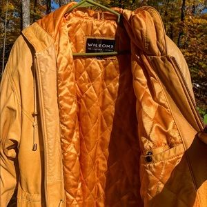 Vintage mustard Wilson's leather jacket